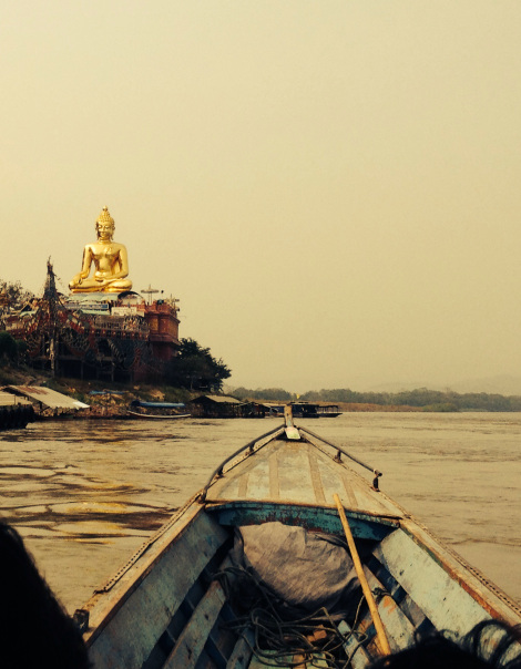 Taking a long boat up the Mekong into the heart of the golden Triangle